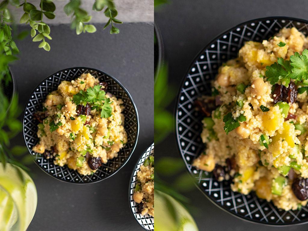 Couscous Salat mit Mango und Kichererbsen